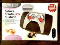 HOMEMEDICS - DELUXE SHIATSU CUSHION WITH HEAT - NEW