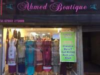 AHMED Boutique Asian clothes shop for Rent (Stock included)