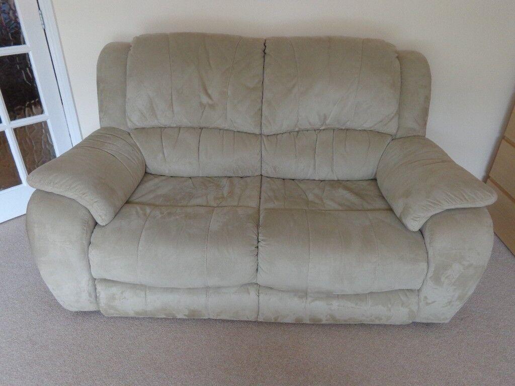 Bargain! Lovely 2 seater beige sofa.