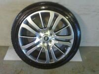 ALLOYS X 4 OF 20 INCH GENUINE RANGEROVER OR DISCOVERY FULLY POWDERCOATED IN A STUNNING SHADOW/CHROME