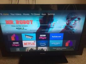 Sony Bravia LCD 32' with fire stick