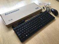 Lenovo Key Board & Optical Mouse Brand New