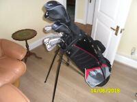 Brand New Wilson 1200XV Mens Set - Driver, 3 Wood, 4 Hyb, Irons 5, 6, 7, 8, 9, PW, SW, Putter, Bag