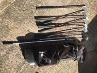 Corey pavin set of golf clubs sizes 4-9 +2, with bag & trolley