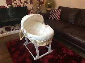 Moses Basket (Mamas & Papas) & Rocking Stand. Grab a Bargain!