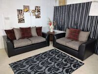 BRAND NEW PARIS FABRIC SOFA SET ON SPECIAL OFFER