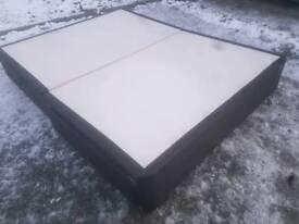 Bed - 2 Drawer Black Leather Border Kingsize Divan Base