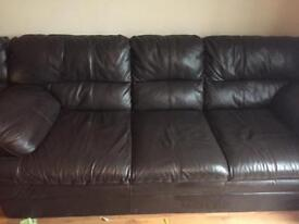 3seater & 2 seater leather sofas