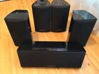 Onkyo Home Cinema Speakers, Fully Working, Crisp Clear High Quality Sound.
