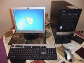 HP Compaq Desktop PC Windows 7 Pro 64 Bit with Monitor, Keyboard & Mouse