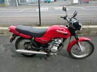 Red 2000 Honda CG 125