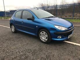 Peugeot 206 1.1 petrol motd end June 2003 plate