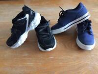 Boys 2 pairs Skechers trainers 11.5