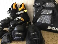 Bauer In Line Skates Size 6 and accessories