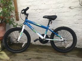 Two children's Apollo 18 inch 'Outrage' bikes in blue (will sell separately)