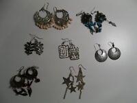 7 Pairs of Earrings - Hanging Earrings Joblot