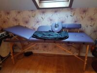 Lightweight, portable massage/ therapy couch with all accessories and carry bag. Never been used.