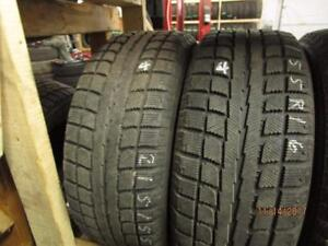 215/55R16 2 ONLY USED SONNY WINTER TIRES