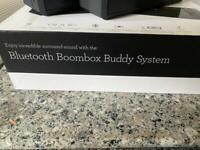 Sharkk dual buddy boom box speakers