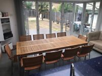 10-Seater Indoor/Outdoor Dining Table + Chairs (Alexander Rose)