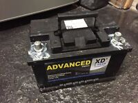 New Car battery - Maintenance free 12v 74AH CCA 750 round terminals. Hardly used!
