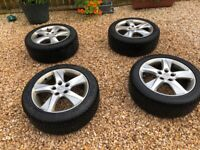 4 x used Winter Tyres and Alloys 225/50 R17