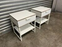 FREE DELIVERY TWO IKEA TRYSIL WHITE BEDSIDE TABLES GOOD CONDITION