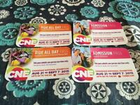 Family pack CNE tickets