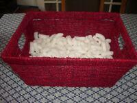 SeagrassHamper Basket in Red Including Packing, BRAND NEW, £6