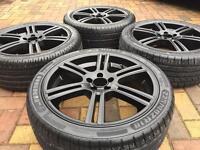 "18"" Alloy wheels & New Tyres For VW Golf GTi MK4 Bora Audi TT A1 Alfa Romeo"