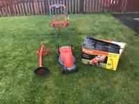 Flymo Visimo Lawnmower and Mini Trim Garden Trimmer