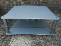 Alphason silver finished tv stand excellent condition. £25.00. Lincoln area