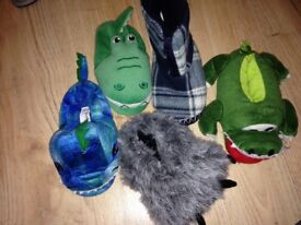 Selection of boys slippers, sizes 8, 9, 10, 11. Very good condition
