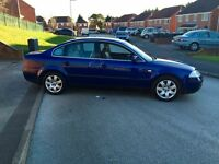 VW Passat 1.8Turbo Blue 2001/Y, F/S/H 9months Mot, New Cambelt! *Quick Sale/Swap*
