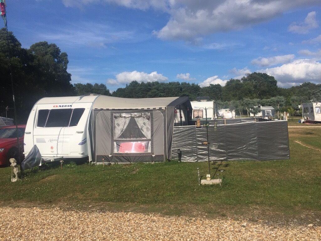 Adria Adora 642up Luxurious Caravan With Isabella Awning Cornish Windbreaks