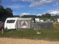"""Adria Adora 642UP """"luxurious"""" caravan, with Isabella awning, Cornish windbreaks, + loads of extras"""