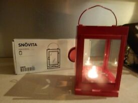NEW BOXED Red IKEA Tall Large Lantern Light Wedding (have 2) Decoration Entrance