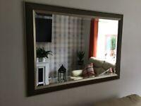 Large gold coloured framed mirror for sale