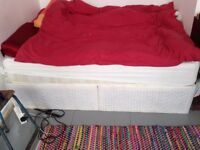 double matress and base 6 months old medium firm excellent condition cost £180 new selling £65
