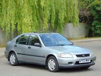 1996 HONDA CIVIC 1.6i LS AUTOMATIC 5DR HATCHBACK.. VERY LOW MILES + HIGHLY MAINTAINED