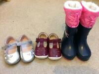 Baby size 3 shoes/Boots Clark's/Tescos