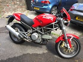 Ducati 620sie Monster. 2002. 6200 miles. In red. 12 month MOT. 1 Owner. Service History