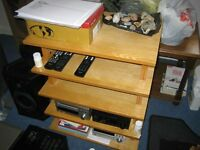 Wooden HiFi Rack for sale, excellent condition