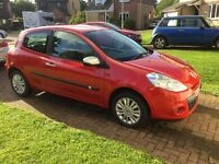 Superb, 3dr Red Renault Clio I-Music, 50k miles, MOT due 5th July 2017, only £2700