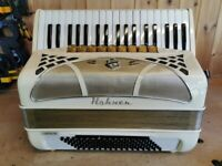Hohner Lucia IV Musette, 4 Voice Musette (LMMM), 96 Bass, Piano Accordion. Lessons Available.