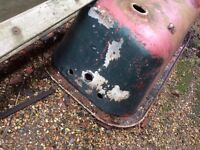 Vintage Cast roll top Iron Bath with claw feet