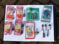 """SELECTION OF 20no. 1/4"""" SHANK ROUTER BITS"""