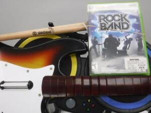Xbox 360 Rock Band set. We buy/sell used video games and systems. 114611