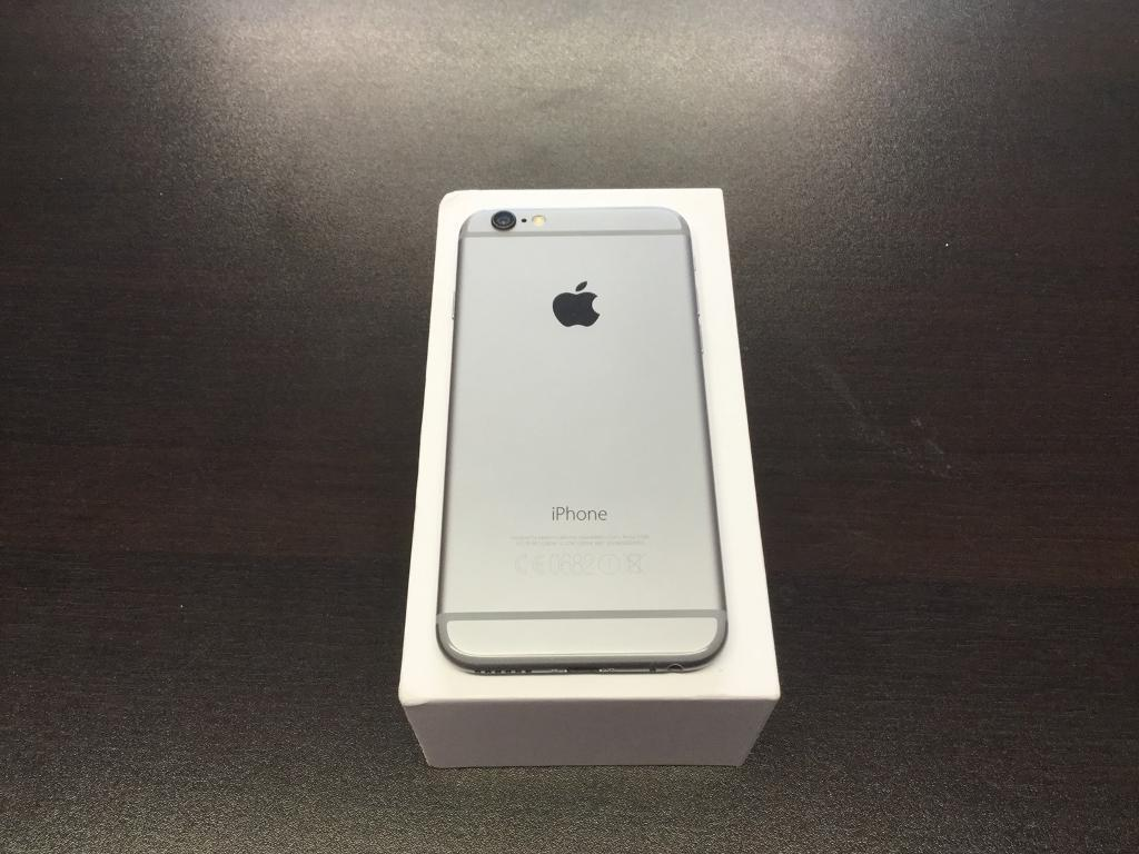 iPhone 6 16gb unlocked good condition with warranty and accessories space grey