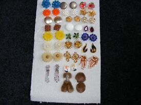 Vintage Clip On Earrings From 1950's & 60's (Price Is For 1 Pair But Cheaper If Buying A Few Pairs).